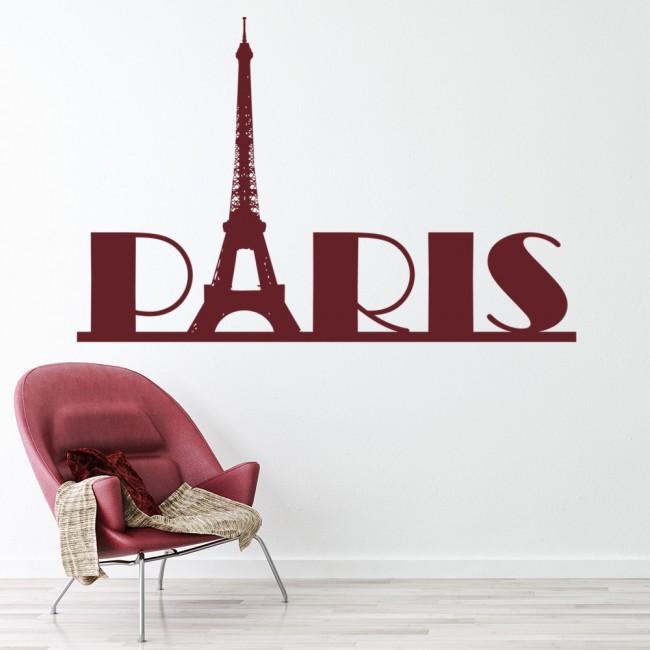 eiffel tower paris wall sticker landmark wall art. Black Bedroom Furniture Sets. Home Design Ideas