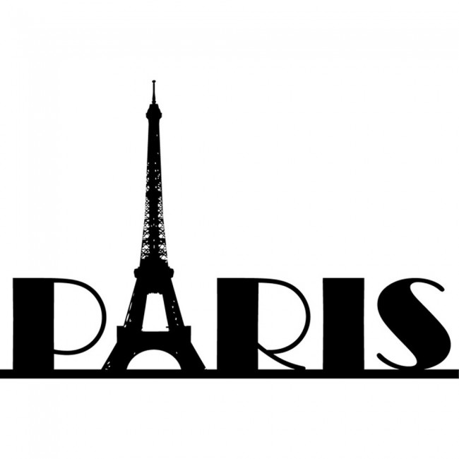 Eiffel Tower Paris Wall Sticker Landmark Wall Art