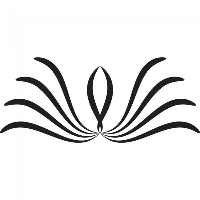 Swirl Design Wall Sticker King Queen Headboard Wall Decal