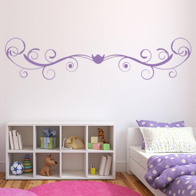 swirl headboard decorative bedroom wall sticker