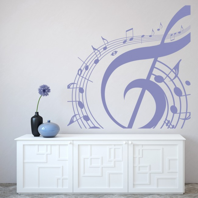 Musical Note Wall Sticker Music Wall Art