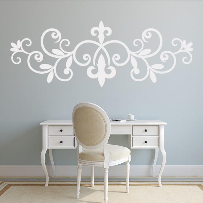 Fleur De Lis Wrought Iron Floral Design Wall Stickers Home Decor Art Decals Part 37