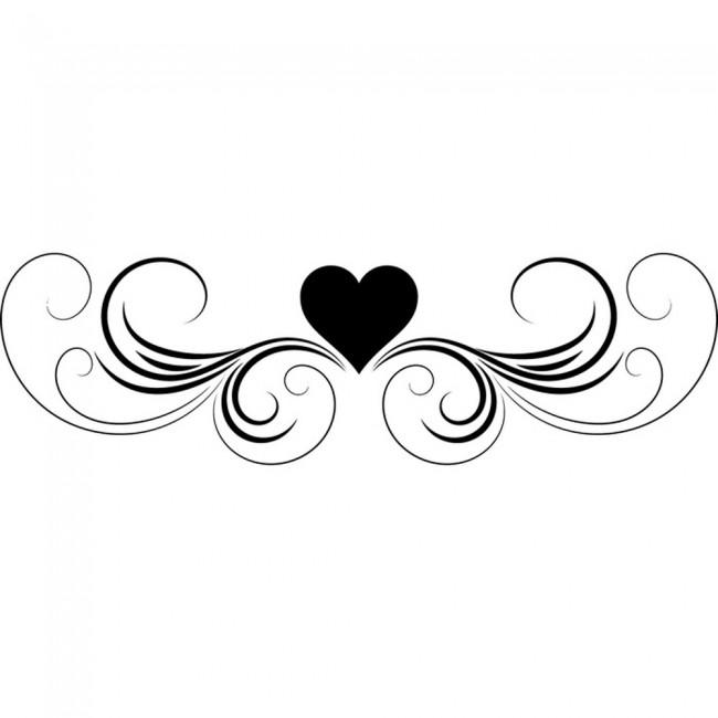 Love Heart Wall Sticker Headboard Design Wall Decal Girls