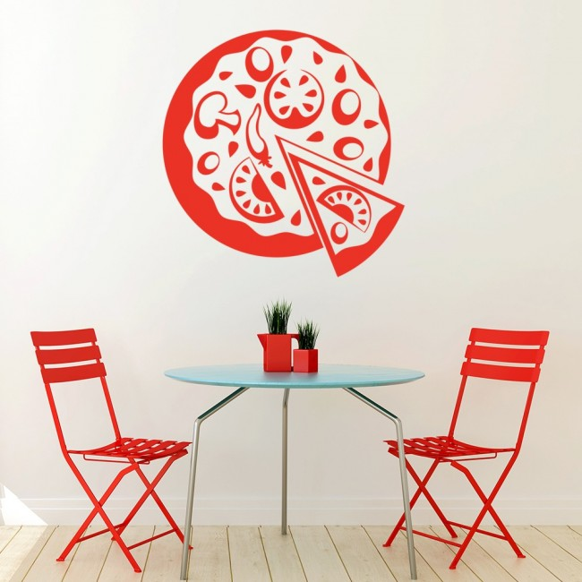 Pizza wall sticker takeaway food decal kitchen cafe