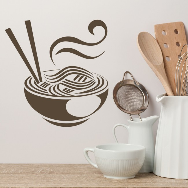Noodles Wall Sticker Chinese Japanese Wall Decal Kitchen