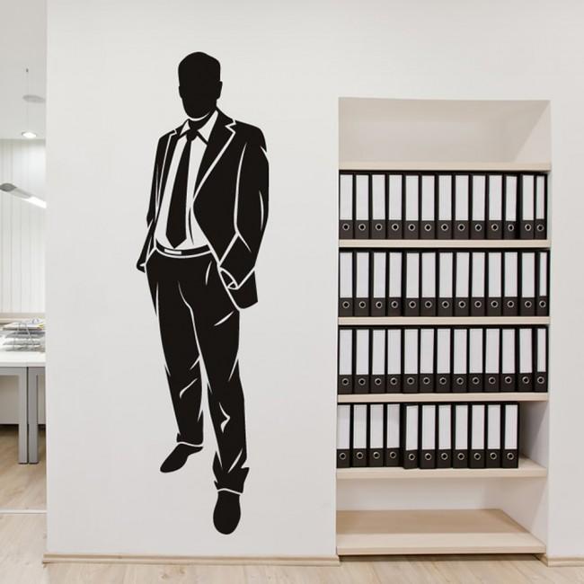 Business Man Wall Sticker Office Wall Art
