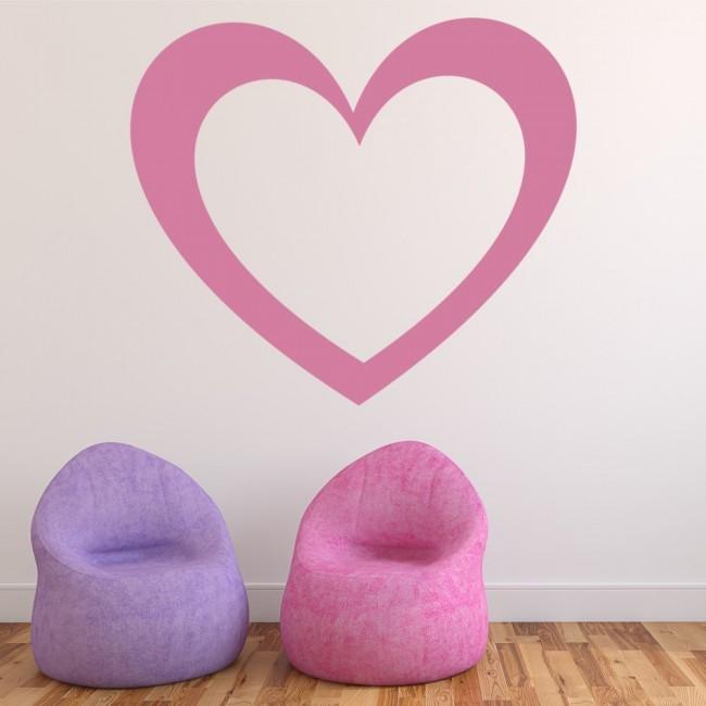 simple love heart wall sticker heart wall art