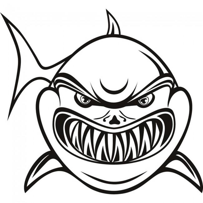 Cartoon Shark Wall Sticker Animal Wall A