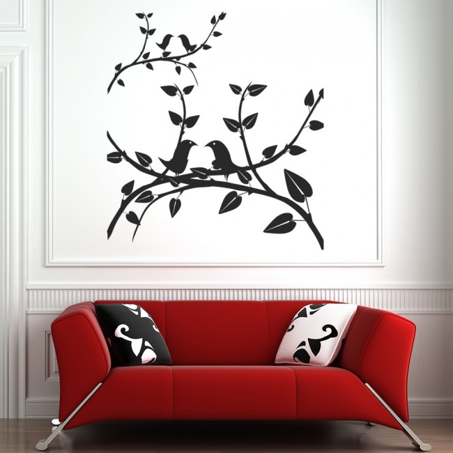 Birds On Branches Wall Sticker Nature Wall Art
