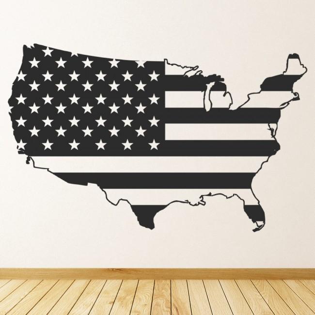 America flag wall sticker usa map wall decal bedroom for Home interiors usa catalog