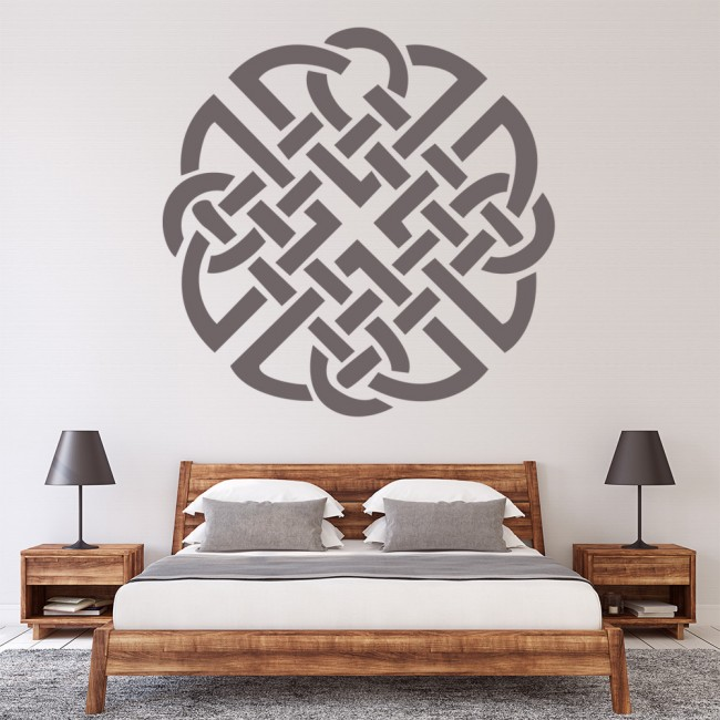 Celtic knot wall sticker celtic wall art for Celtic decorations home