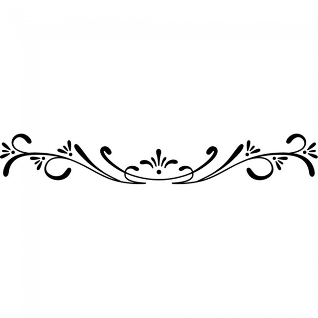 Floral Edge Border Headboard Wall Sticker