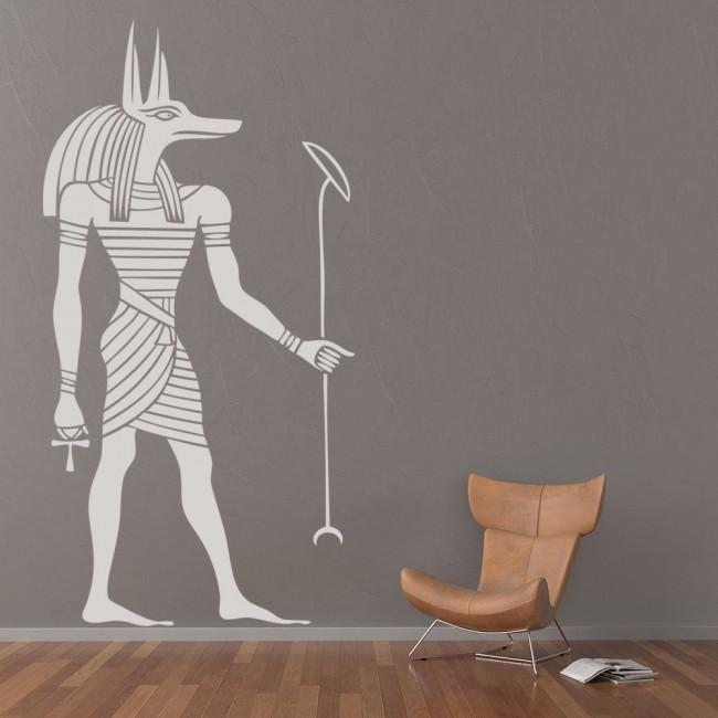 Egyptian Anubis Wall Sticker Ancient Egypt Wall Decal Bedroom Living Home Decor