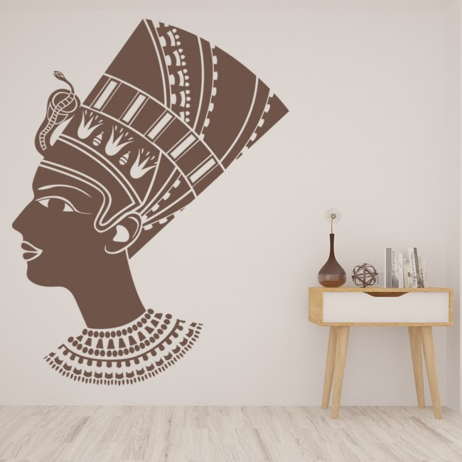 Female Egyptian Wall Sticker Ancient Egypt Wall Decal Bedroom Living ...
