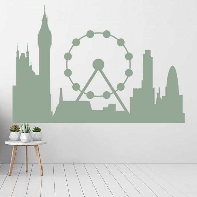 London City Skyline Wall Sticker United Kingdom Decal Office