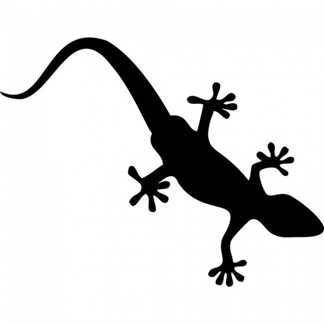 Gecko Silhouette Lizard Reptile Wild Animals Wall Sticker ...