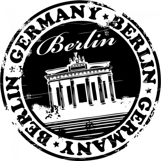 Berlin Badge Wall Sticker Germany Wall Decal Office