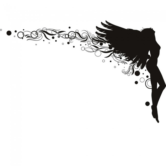 Swirl Angel Wall Sticker Angels Amp Wings Wall Decal Art