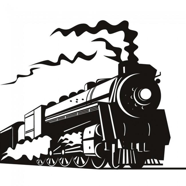 Train Wall Art steam train coal fired railway trains wall stickers transport