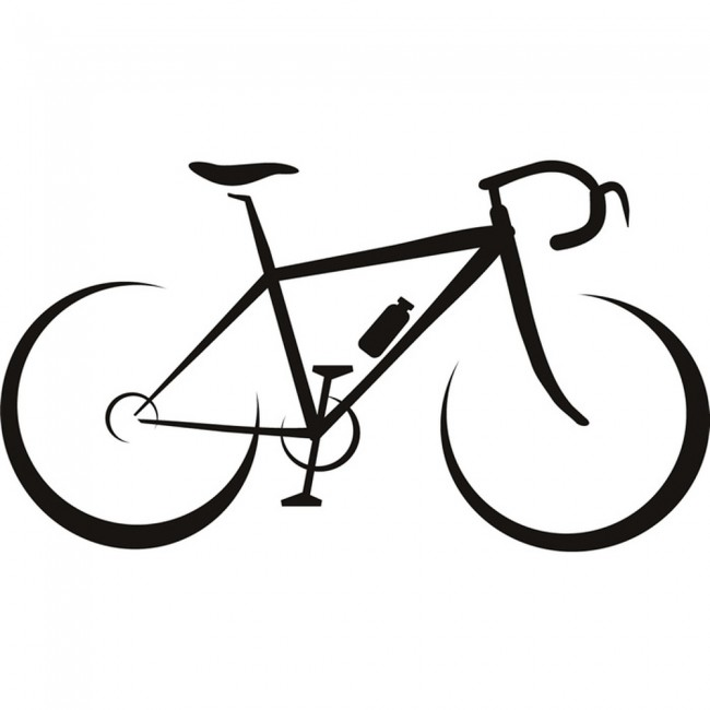 racing bike silhouette wall sticker cycling sports wall