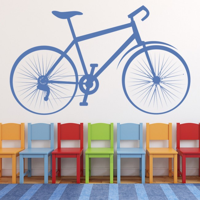 Bicycle Wall Sticker Classic Bike Wall Decal Cycling