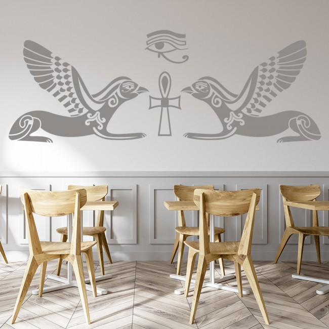 Horus Hieroglyph Wall Sticker Ancient Egypt Wall Decal Bedroom Living Home Decor