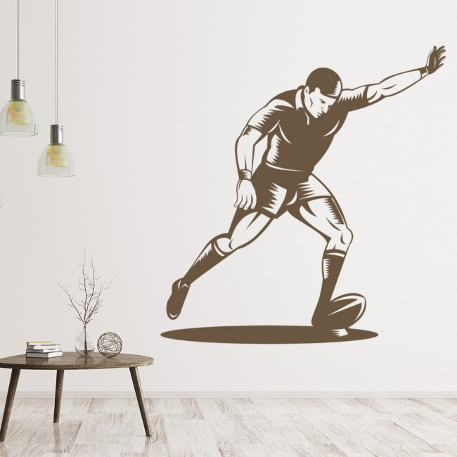 rugby player wall sticker rugby kick wall decal boys