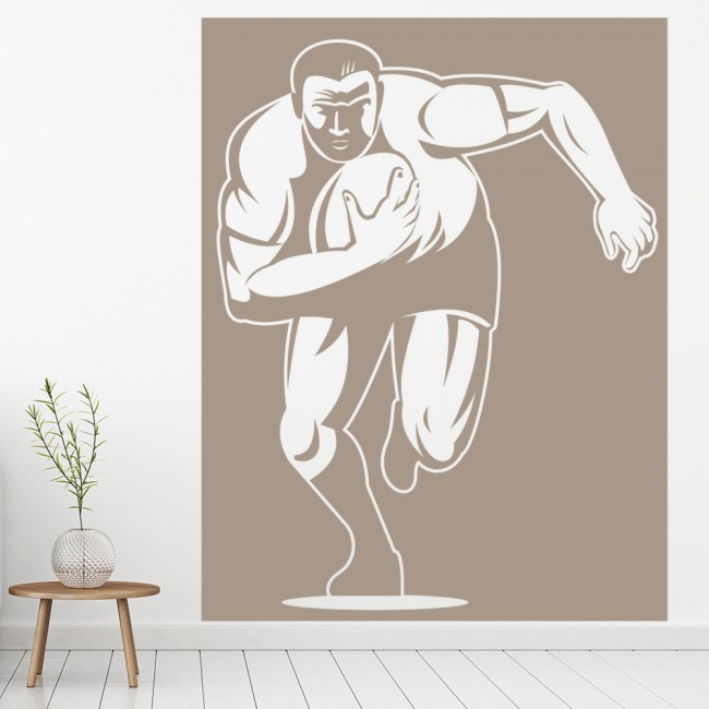 Rugby player wall sticker sports wall decal boys bedroom for Boys rugby bedroom ideas