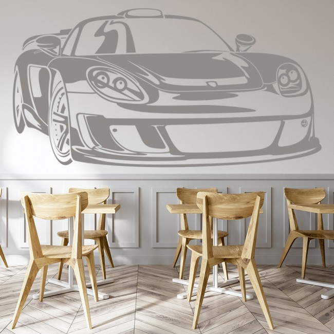 WS-18766-02.jpg & Porsche Carrera Car Wall Sticker Transport Wall Decal Boys Bedroom ...