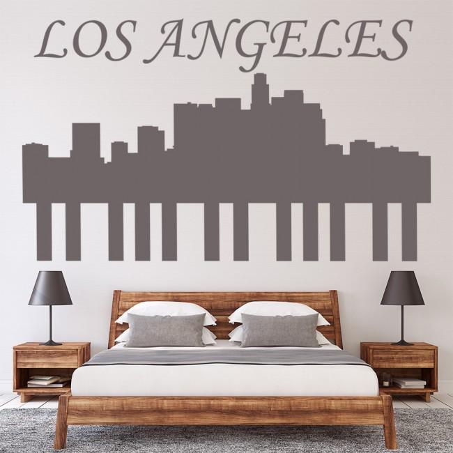 Los Angeles Home Decor: Los Angeles Skyline Wall Sticker LA Wall Art