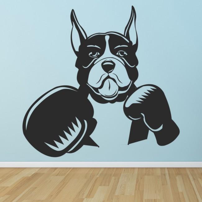 Dog Boxing Wall Sticker Dog Wall Art