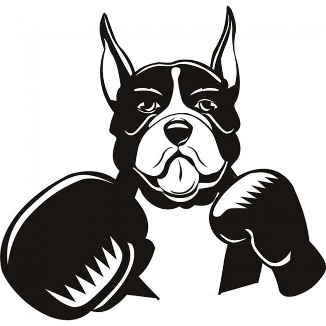 Dog Boxing Wall Sticker Dog Wall Art