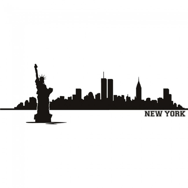 New York City Named Silhouette Skyline America USA Wall Stickers Home Art  Decals   Wall Stickers Part 82
