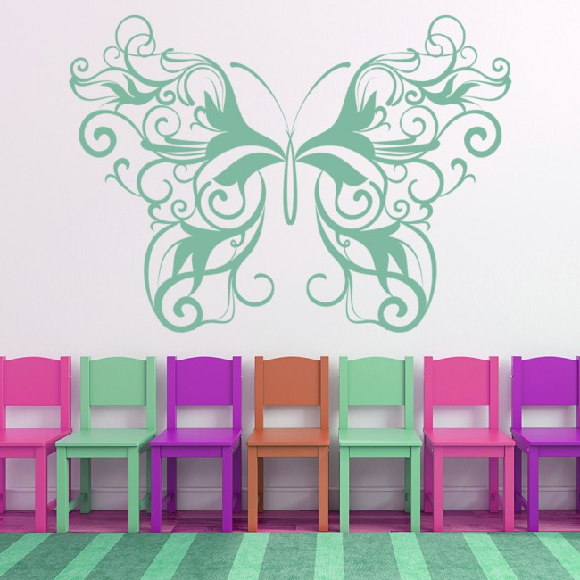 Stylish butterfly wall sticker butterflies wall decal girl bedroom home decor