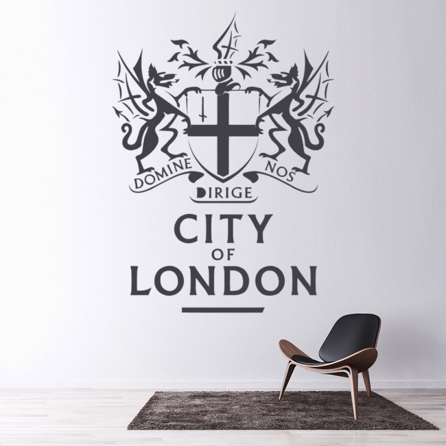 city of london wall sticker badge wall art london skyline wall stickers by parkins interiors