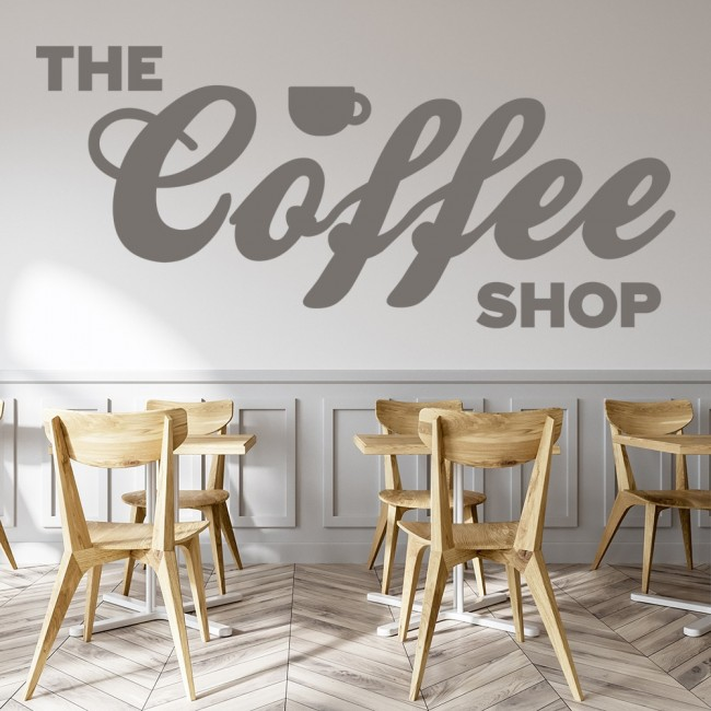 The Coffee Shop Wall Sticker Food Drink Quote Wall Decal Kitchen Cafe Home  Decor