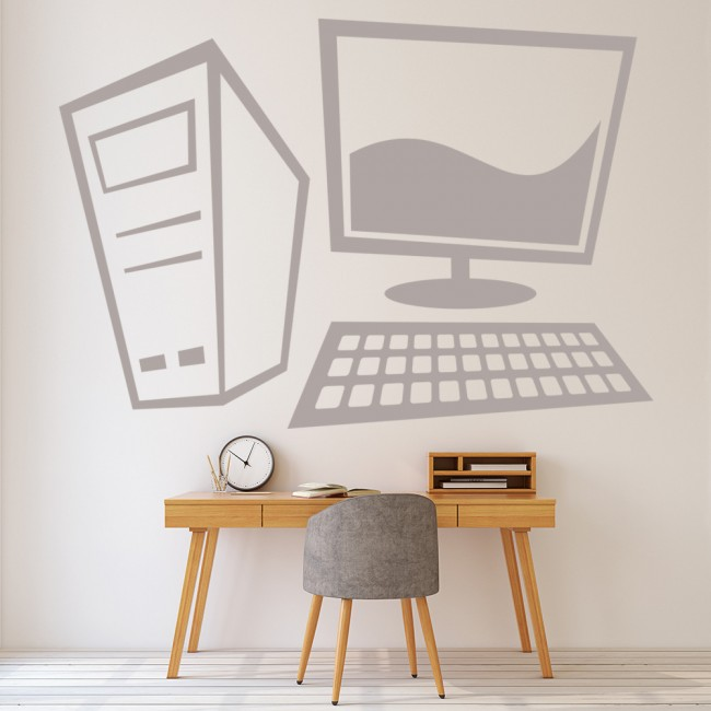 Office Pictures For Walls Golf: Computer Wall Sticker Office Wall Decal Business School