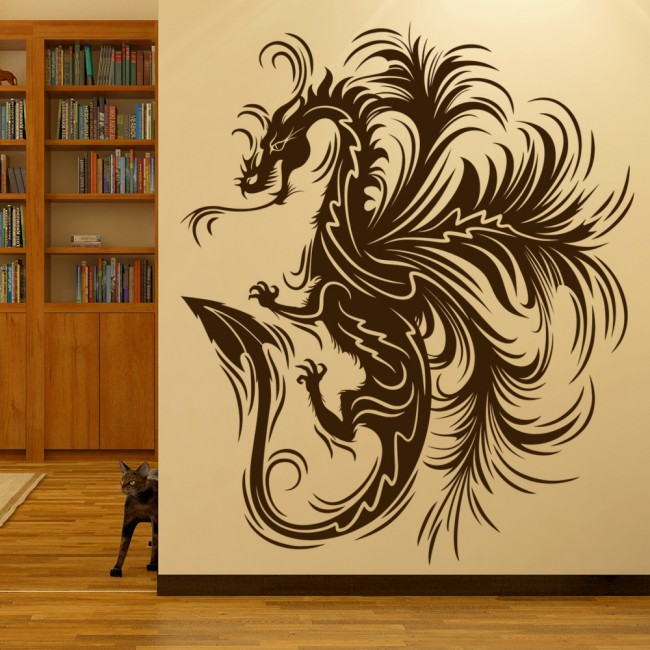 Dragon Art Wall Sticker Fantasy Monster Wall Decal Boys