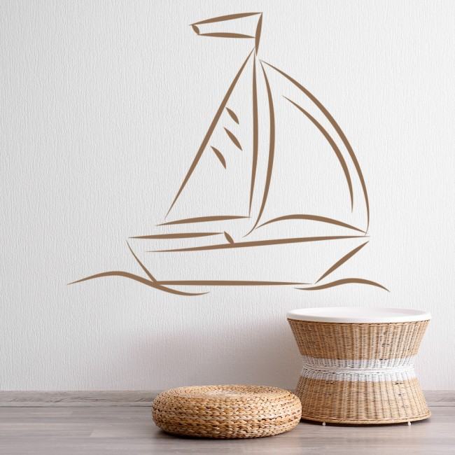 sail boat wall sticker boat wall art wallstickers folies boat wall stickers