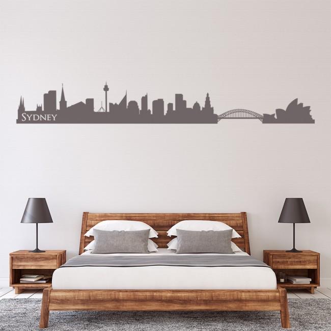 sydney skyline australia wall sticker