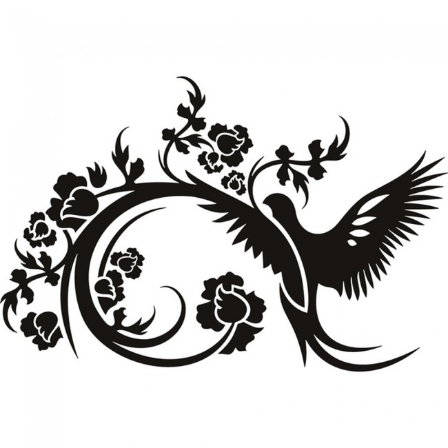 Crows Used Cars Crowsusedcars: Floral Dove Wall Sticker Bird Wall Art