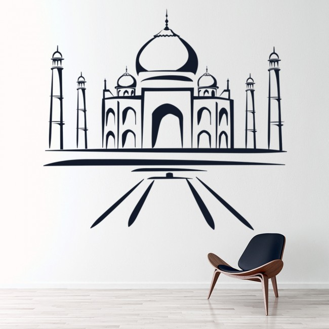 taj mahal india landmark wall sticker