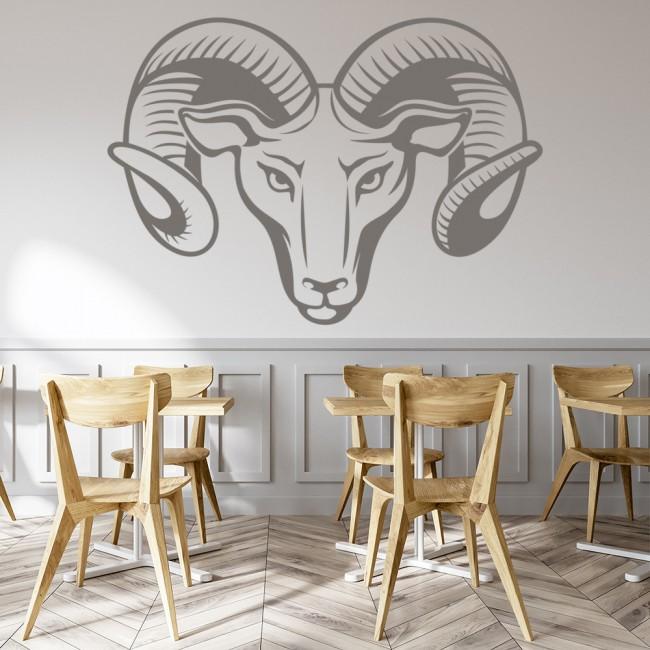 Aries Ram Wall Sticker Zodiac Sign Wall Decal Horoscope