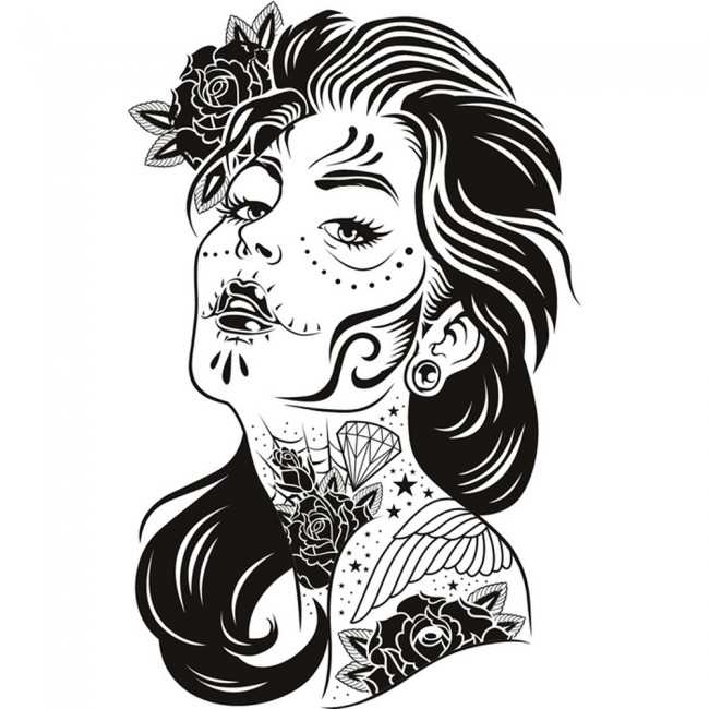 Tattoo Wall Art tattooed woman wall sticker tattoo wall art