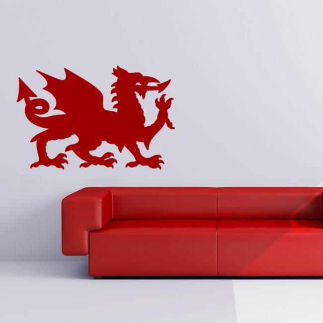 Welsh Dragon Wall Sticker Wales Symbol Wall Decal United Kingdom ...