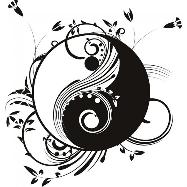 Ying And Yang Wall Sticker Decorative