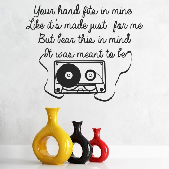 Great One Direction Little Things Song Lyrics Wall Stickers Music Decor Art Decals Part 32