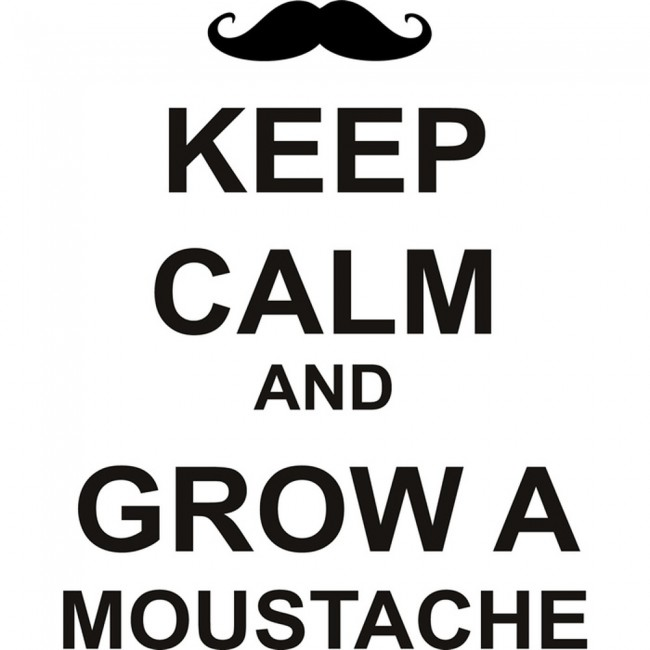 Funny Moustache Quotes: Keep Calm And Grow A Moustache Wall Sticker Keep Calm Wall Art