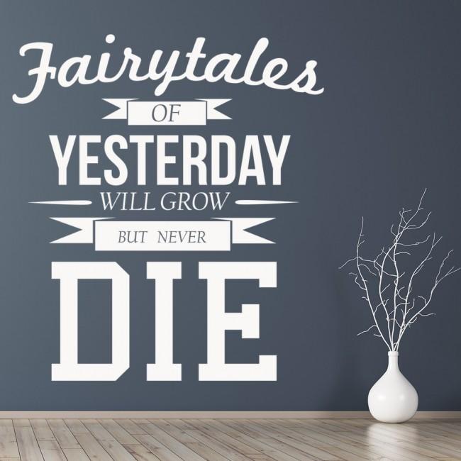 fairytales of yesterday queen song lyrics wall sticker