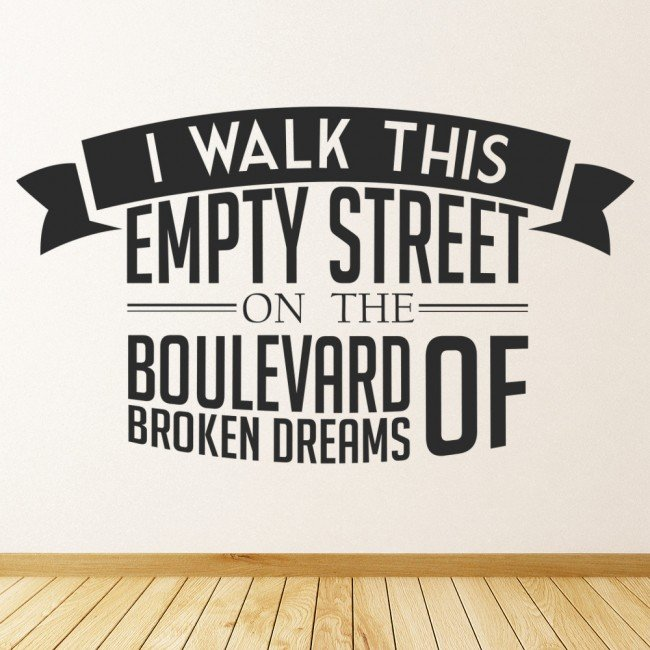 green day boulevard of broken dreams wall sticker